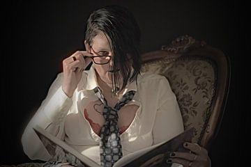 """""""lezen bij kaarslicht"""" von Pascal Engelbarts"""