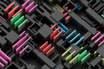 Geometrische Mikrowelt mit geringer Schärfentiefe