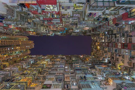 Hong Kong by Night - Quarry Bay Buildings - 1 van Tux Photography