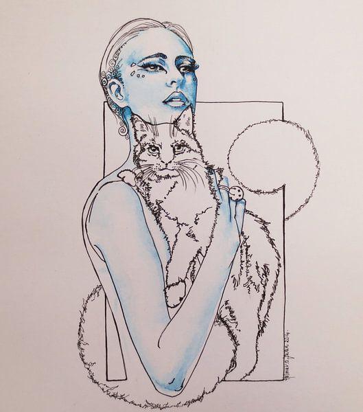 De box, kattenvrouw van Helma van der Zwan