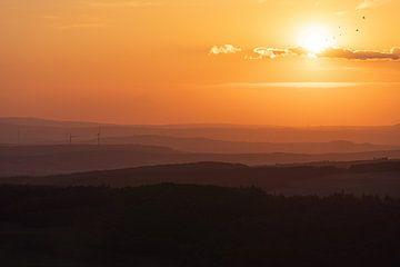 Zonsondergang in de Taunus van Marc-Sven Kirsch
