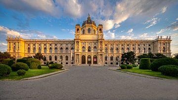 Natuurhistorisch museum in Wien bij zonsopgang