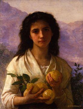 William-Adolphe Bouguereau-Meid hält Zitronen
