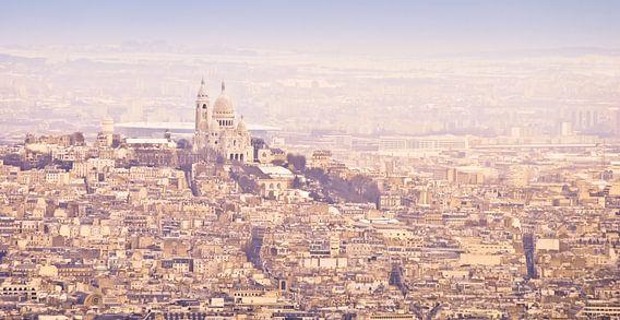 Winterpanorama Sacré-Coeur Parijs van  Arja Schrijver Fotografie