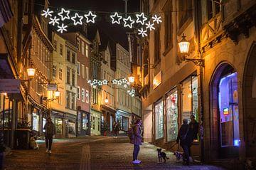 Kerstmis in de bovenstad van Marburg van Jürgen Schmittdiel Photography