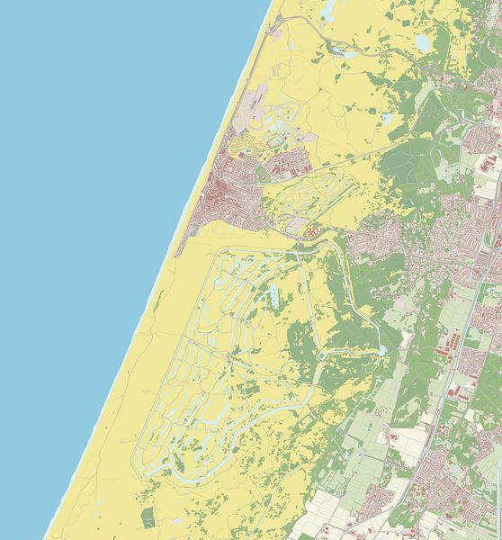 Kaart vanZandvoort van Rebel Ontwerp