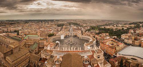 Panorama Piazza San Pietro von Joram Janssen