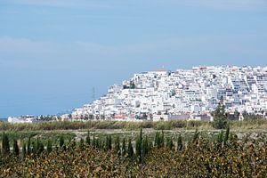typisch spaans dorp in de buurt van Malaga