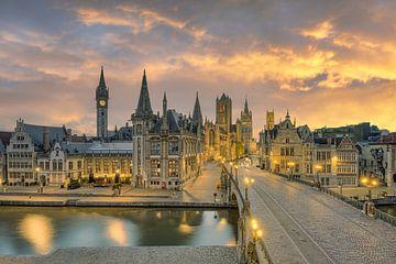 Gent in België van Michael Valjak