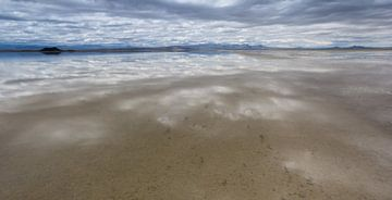 Laguna Llancanelo in het Andesgebergte in Argentinië van Marc Venema