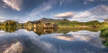 Kochelsee met alpenpanorama in de Beierse Alpen ten zuiden van München van Fine Art Fotografie
