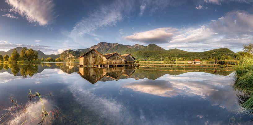 See mit Alpenpanorama in den bayerischen Alpen südlich von München von Voss Fine Art Fotografie