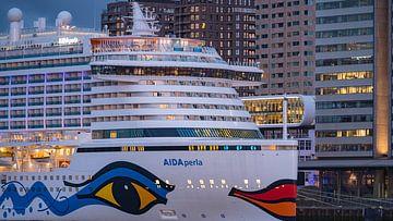 Cruise ship AIDAperla Rotterdam sur 24 liquidmedia