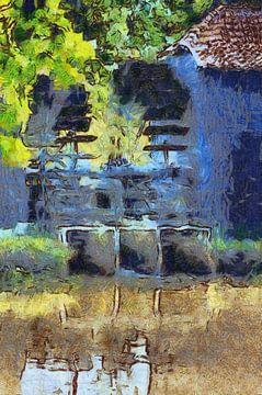 Moulin à eau Collse sur Erwin Maaskant