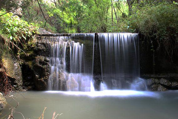 Spring Waterfall van Cornelis (Cees) Cornelissen
