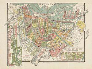 Plattegrond Amsterdam - 1890