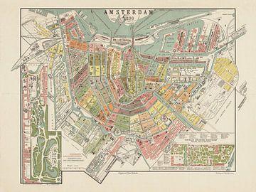 Karte Amsterdam - 1890