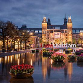 Rijksmuseum en tulpen van Pieter Struiksma