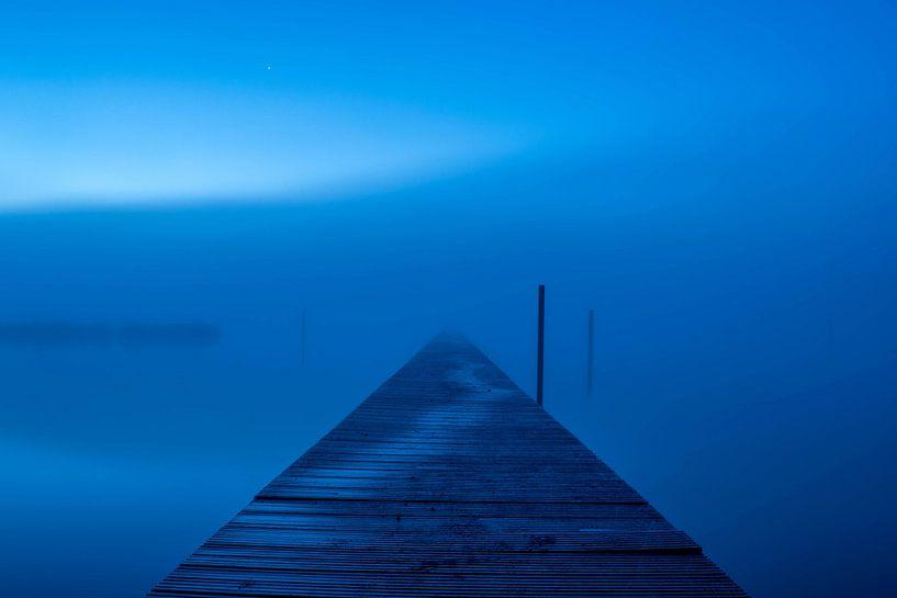 steiger in de mist van Patrick  van Dasler