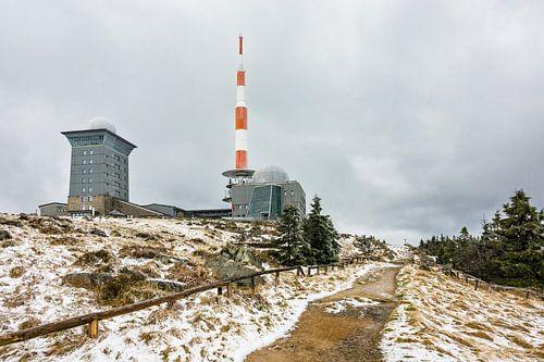 Buildings on the mountain Brocken