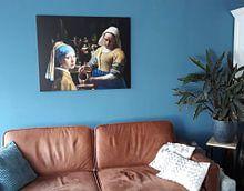 Kundenfoto: Das Mädchen mit dem Perlenohrgehänge - das Milchmädche - Johannes Vermeer von Lia Morcus, auf leinwand