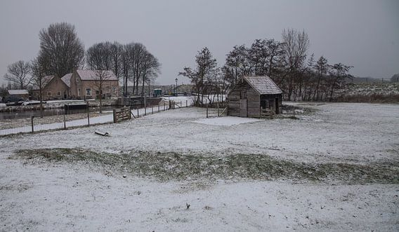 Hollands sneeuw landschap