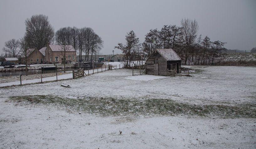 Hollands sneeuw landschap van Anne-Marie Vermaat