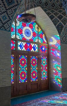 Iran: Nasir al Molkmoskee (Shiraz) van Maarten Verhees