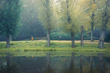 Wandern im Noorderplantsoen, Groningen von Hessel de Jong