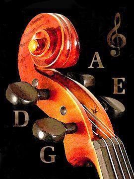 Violon pour l'accordage sur Dirk H. Wendt