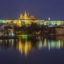 Prager Burg und Karlsbrücke am Abend - Prag, Tschechische Republik - 10 von Tux Photography