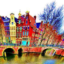 Colorful Amsterdam #116 van Theo van der Genugten