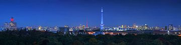 Berlin Skyline zur blauen Stunde von Frank Herrmann