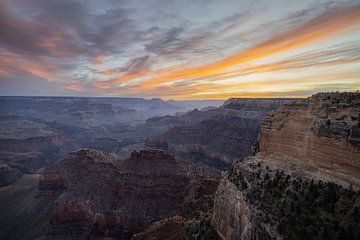 Sonnenaufgang am Grand Canyon von Thomas Bekker
