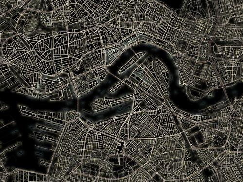 Carte Lumiere de Rotterdam sur