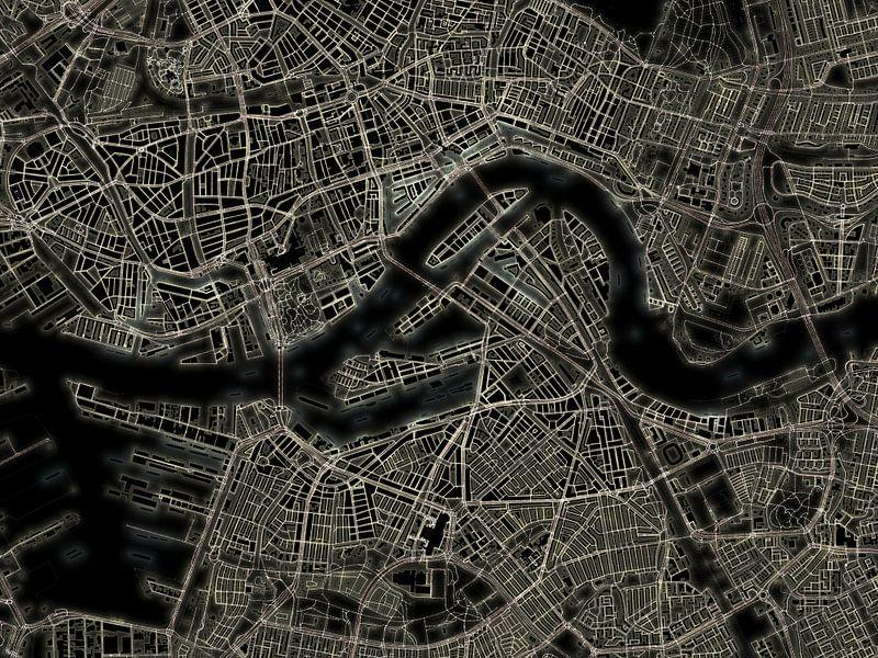 Lichtkaart Rotterdam van Frans Blok
