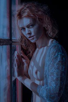 Topless bij het raam sur Allard Kamermans