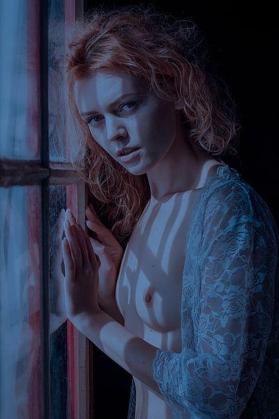 Topless bij het raam van Allard Kamermans