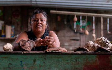 Costa Rica: Bri Bri Indiaan (Bratsi) van Maarten Verhees