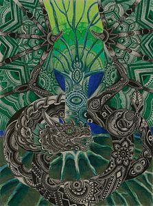 Das alles sehende Auge von Drawing made by Lin