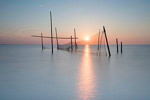Visnetten op de Noordzee van
