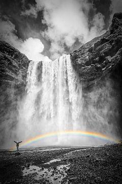 ISLAND Skogafoss | Colorkey von Melanie Viola