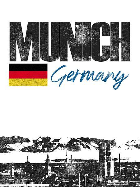 München Beieren Duitsland van Printed Artings