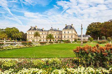 View to the park Jardin du Luxembourg in Paris, France van Rico Ködder