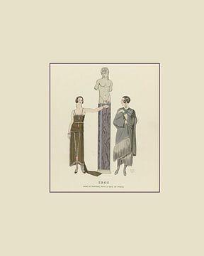 Eros | Mythologie grecque, mythe et histoire, déesses de l'amour | Impression de mode Art déco histo sur NOONY