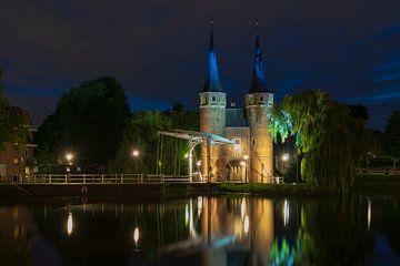 Avondopname Oostpoort Delft van Mario Brussé
