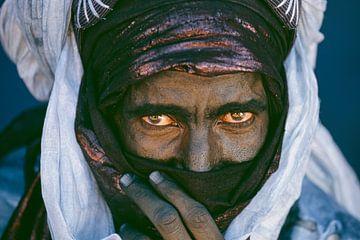 Wüste Sahara.  Tuareg-Mann. Porträt. von Frans Lemmens