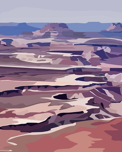 Zonsondergang in Canyonlands National Park (Green River Overlook)