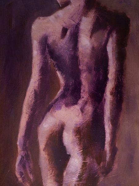 femme nue modèle dos sur Alies werk