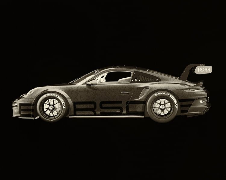 Porsche 911 GT-3 RS - Cup 2021 zijde van Jan Keteleer